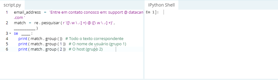 Tutorial Expressão regular do Python