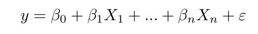 A fórmula para uma regressão linear múltipla